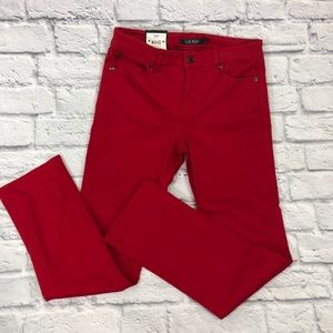 Lauren Ralph Lauren Red Straight Pants. Sz 4. New!